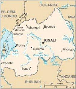 Was passiert in Ruanda? von Jean Marie Vianney Minani rwanda-map12-256x300